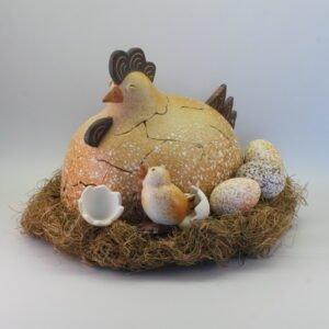 Pääsiäiskana - Vaaleapilkullinen ja kananpoika