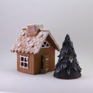 Piparimökki - Keskikoko ja Joulukuusi | Keramiikkakellari